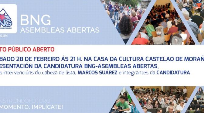 28F: Acto de presentación da nosa candidatura