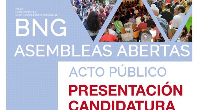 Calendario  dos actos de presentación da nosa candidatura