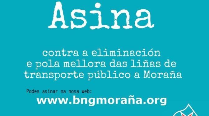ASINA  contra eliminación e pola mellora das liñas de transporte público en Moraña